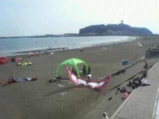 カイトサーフィンと江ノ島
